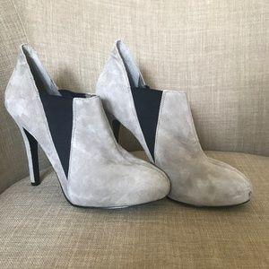 BCBG Grey Suede Heels Size 7.5